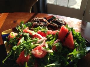 turkeyburger&salad